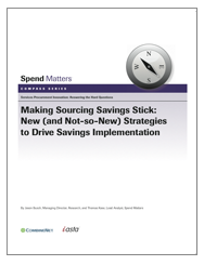 Making Sourcing Savings Stick Cover Image
