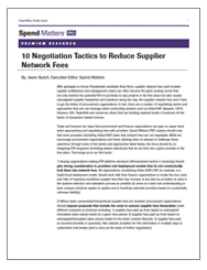 10 Negotiation Tactics to Reduce Supplier Network Fees Cover Image