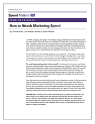 How to Attack Marketing Spend Cover Image