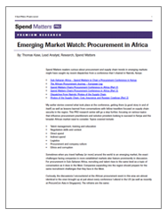 Emerging Market Watch: Procurement in Africa Cover Image