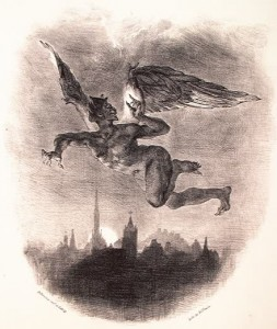 Mephistopheles, lithograph by Eugene Delacroix. Image courtesy of Wikipedia.