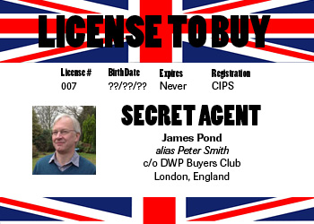 License to buy, license to kill. James Pond is back!