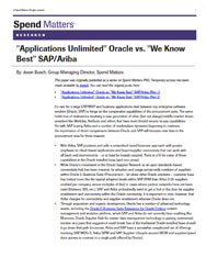 Applications Unlimited Oracle vs. We Know Best SAP/Ariba Cover Image