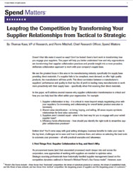 Transforming Your Supplier Relationships from Tactical to Strategic Cover Image