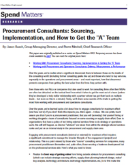 Procurement Consultants -Sourcing, Implementation, and How to Get the A-Team Cover Image