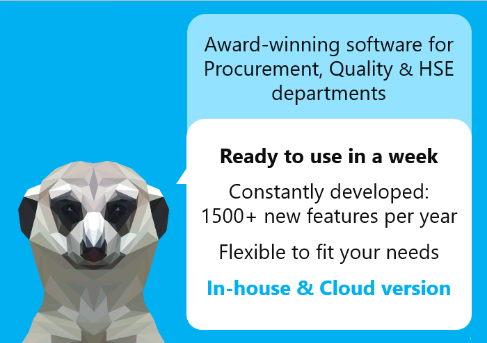 Award winning software for Procurement and Quality Managementu